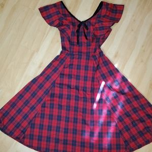 Collectif plaid dress
